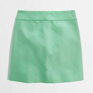J.Crew Factory Green Cotton Mini Skirt